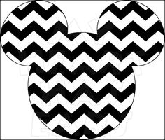 Minnie Mouse Chevron INSTANT DOWNLOAD digital clip art DIY iron on.
