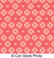 Vector Illustration of seamless pink and red heart chevron.