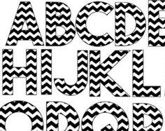Chevron Letters Clipart.