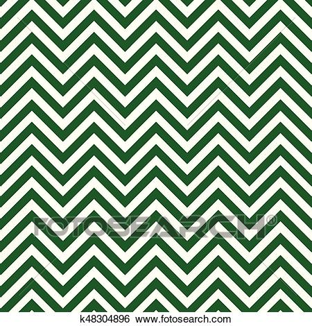 Green and white chevron pattern Clip Art.