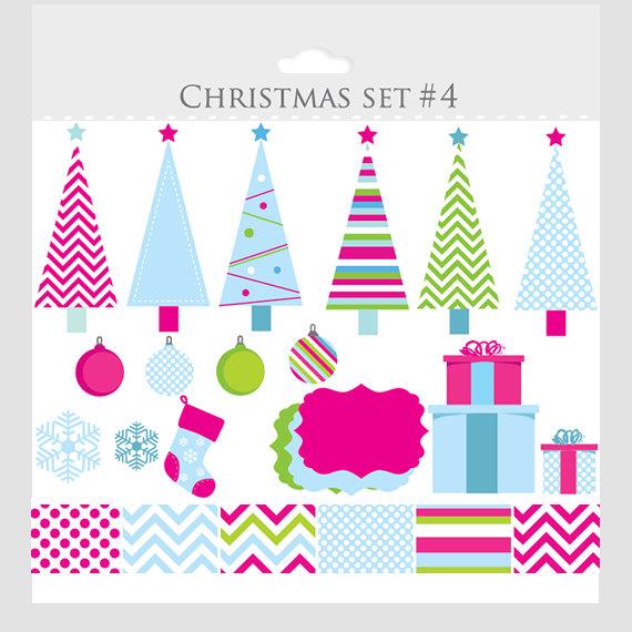 Free chevron christmas tree clipart.