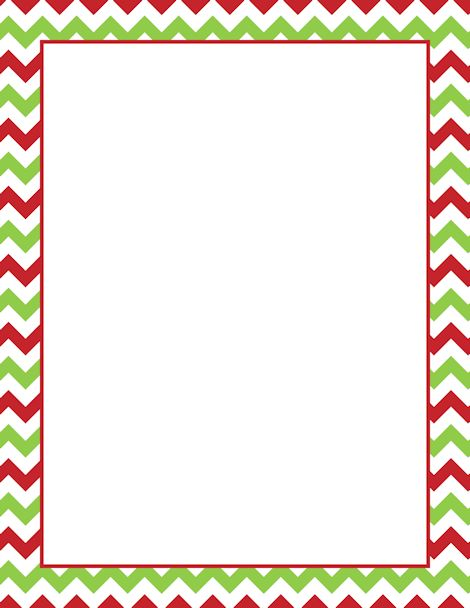 Christmas Chevron Clipart.