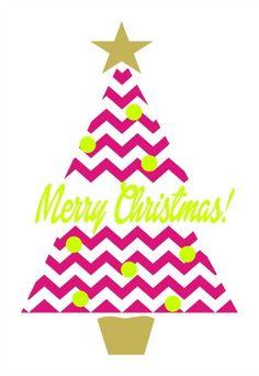 Chevron Christmas Tree Clipart.