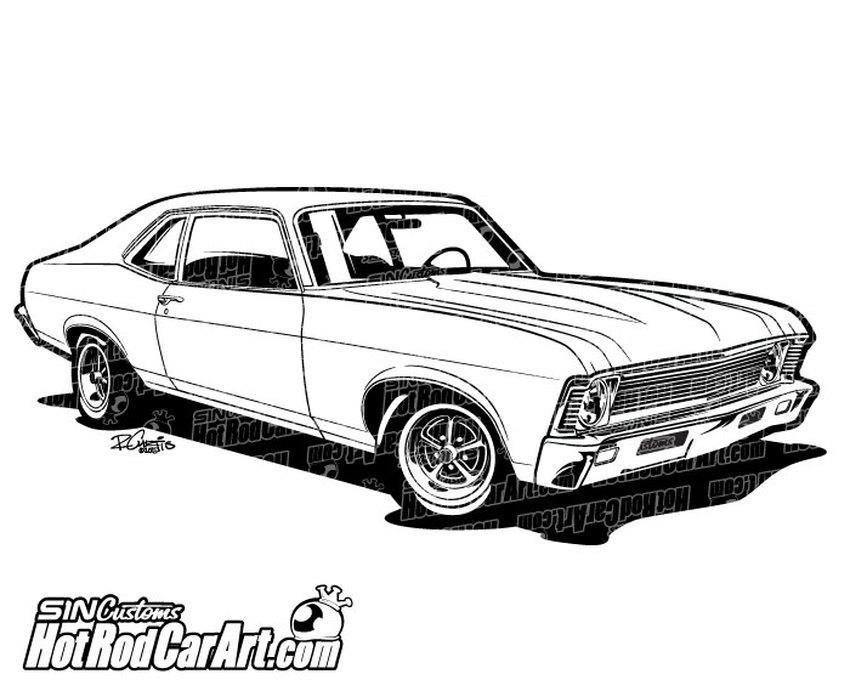 1969 Chevrolet Nova Muscle Car.