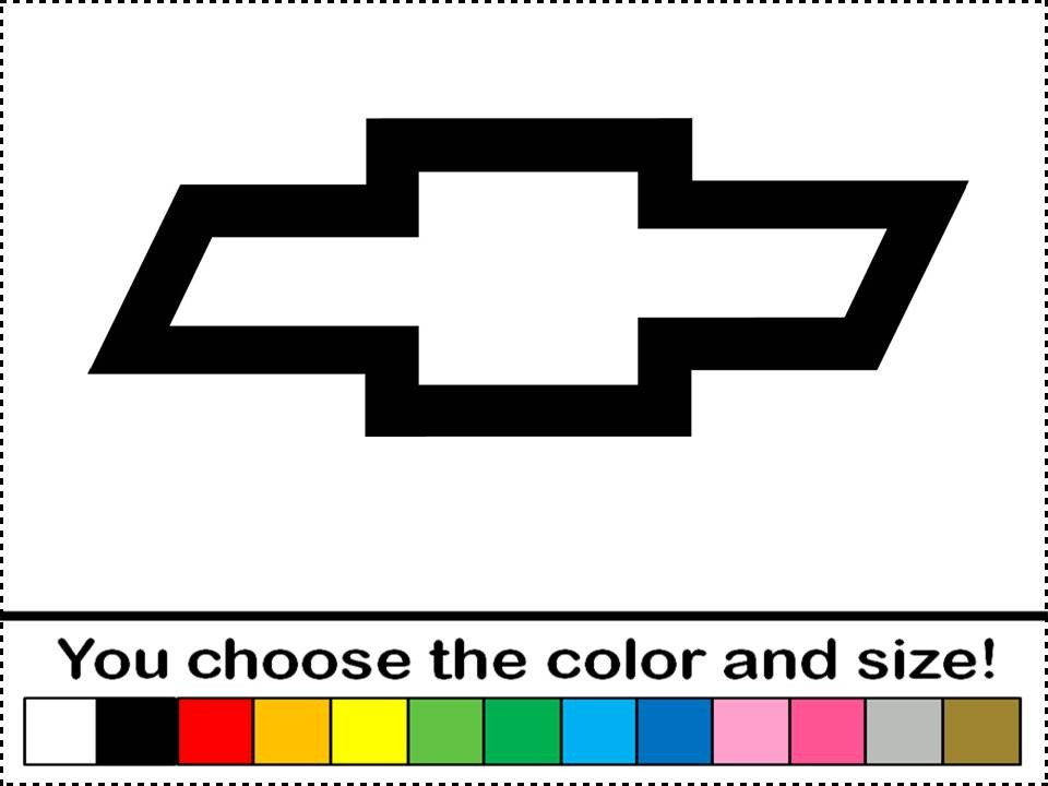 Chevy Bowtie Symbol Logo Emblem Vinyl Decal Car Truck Window.