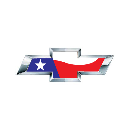 CHEVY Emblem Overlay Texas Flag.