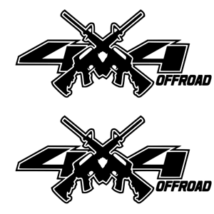 Details about BLACK 4x4 Decals Stickers Ford Chevy RAM 1500 2500 f150 f250  jeep AR15 M4 decal.