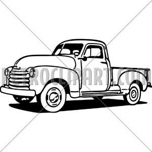 Chevy Pickup Truck Clipart.