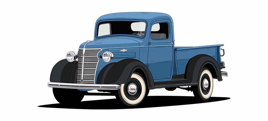 Vintage Truck Png.