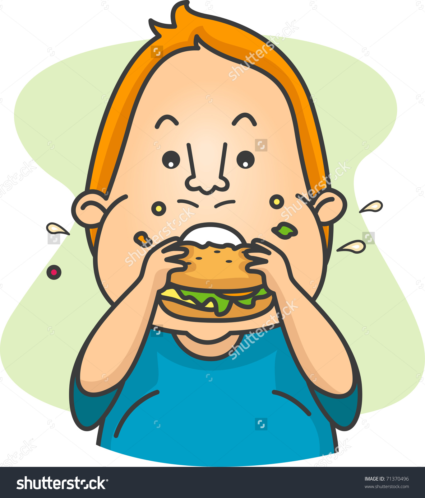 Chew mouth closed clipart.
