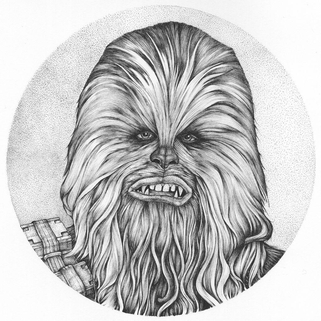 Chewbacca drawing..