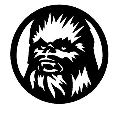 Amazon.com: Star Wars Chewbacca, Black, 8 Inch, Die Cut.