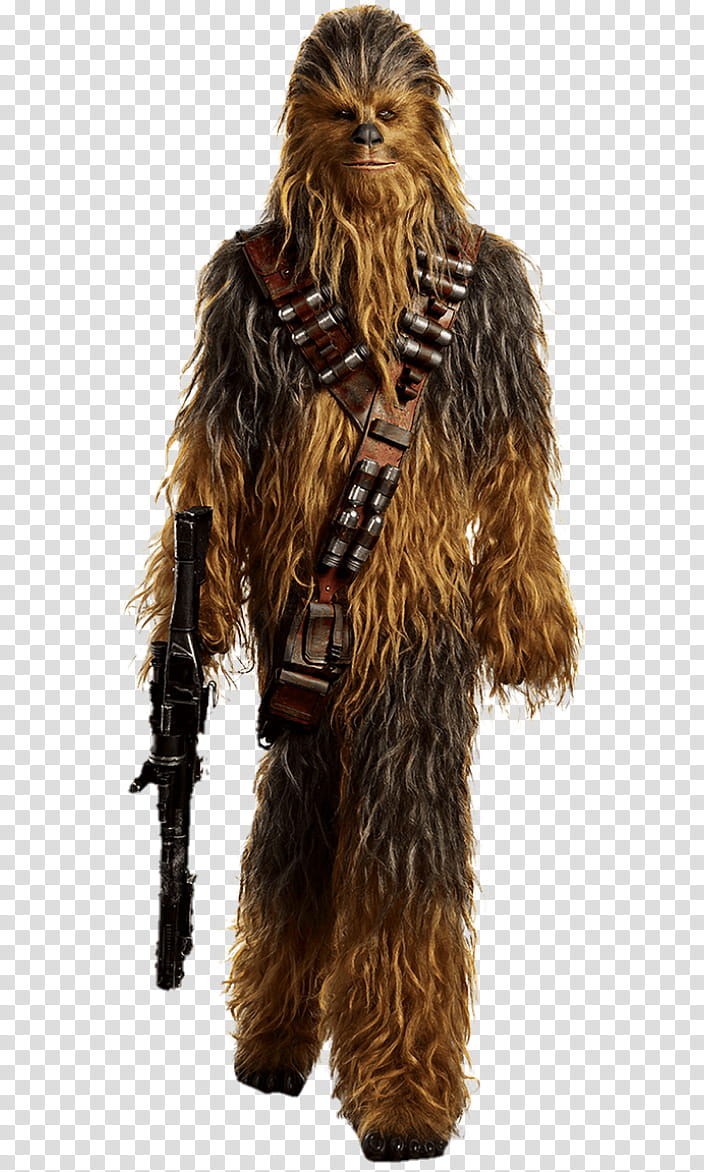 Solo a star wars story Chewbacca transparent background PNG clipart.
