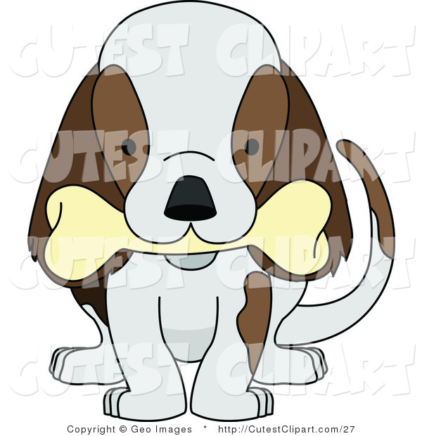 Dog Chewing Clipart.