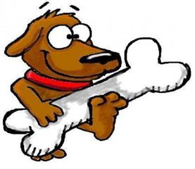 Cartoon Dog Bones.