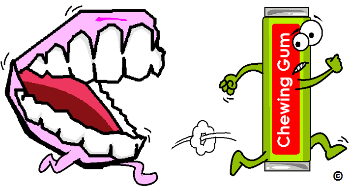 Chewing mouth clipart.