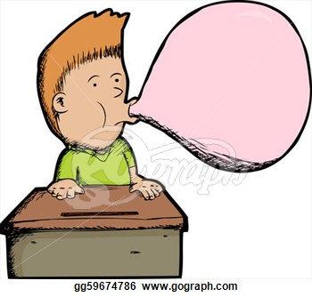 People chewing gum clipart.