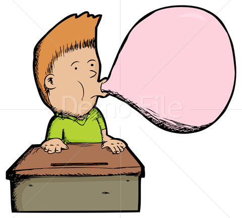 No chewing gum clipart.