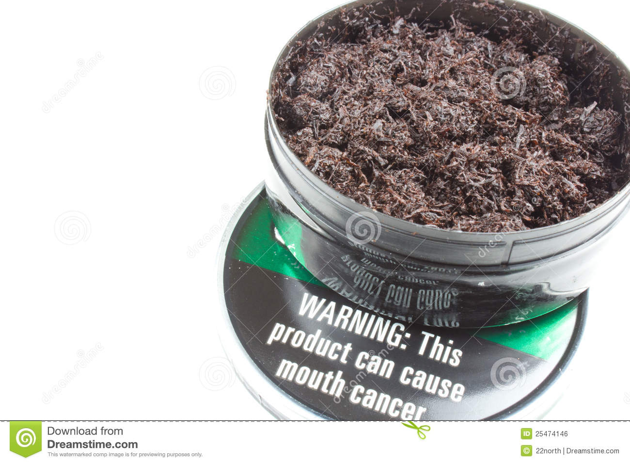 Chewing Tobacco Royalty Free Stock Image.