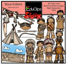 Cheyenne Indians Clip Art Bundle by EduClips on Etsy.