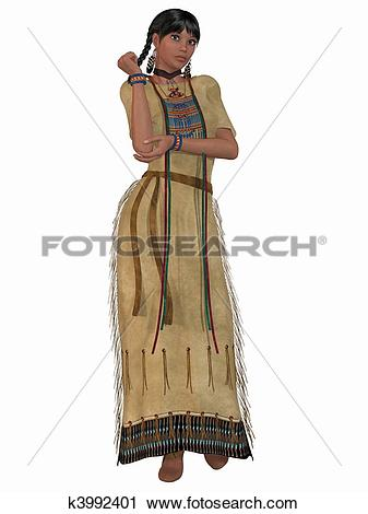 Clipart of Native American Indian.