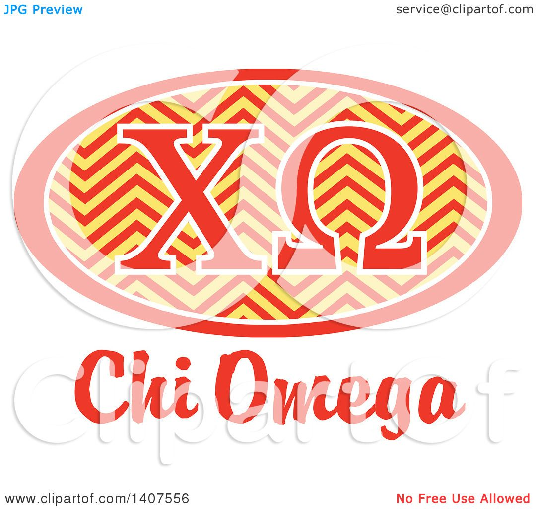Clipart of a College Chi Omega Sorority Organization Design.