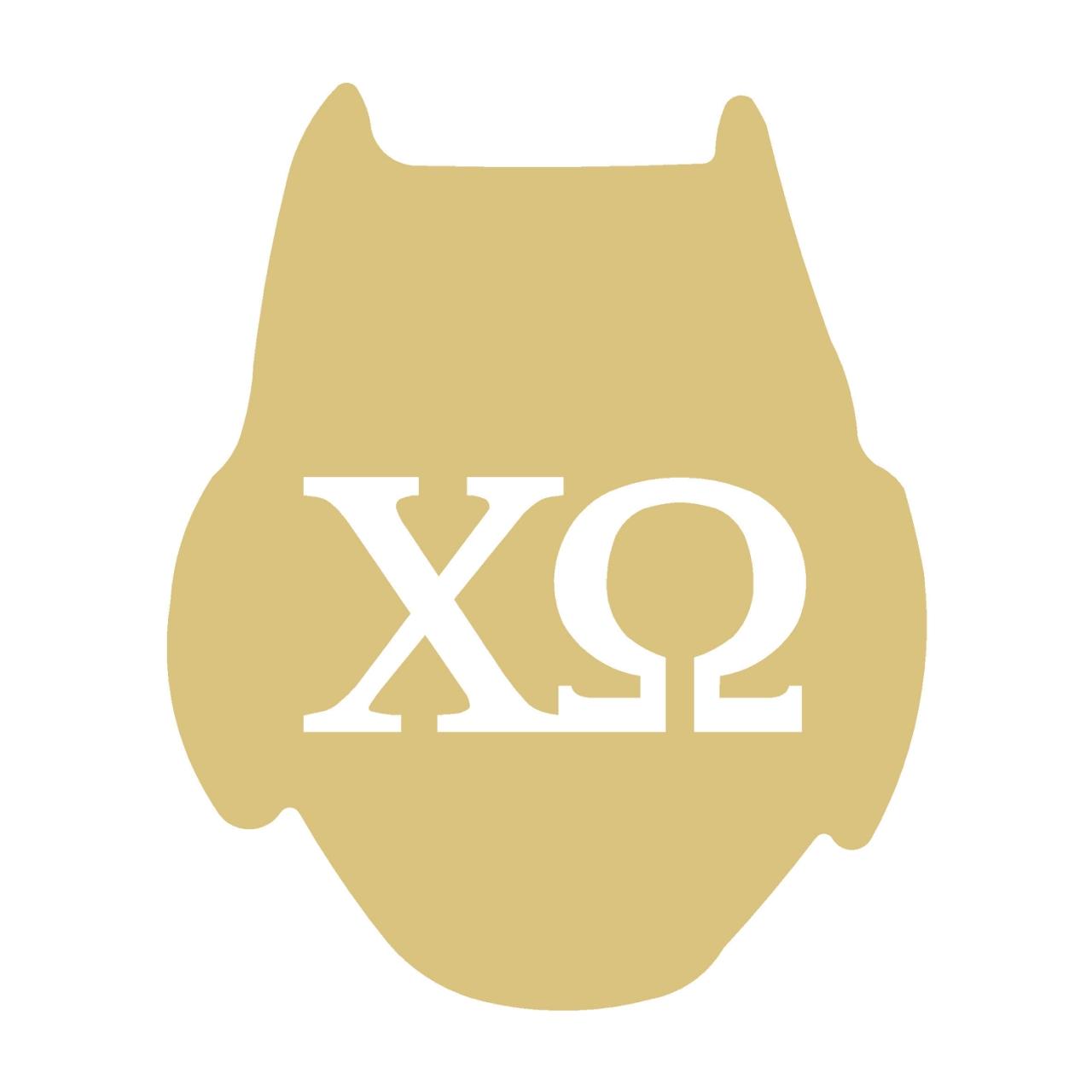 Owl Chi Omega Cutout Style 3.