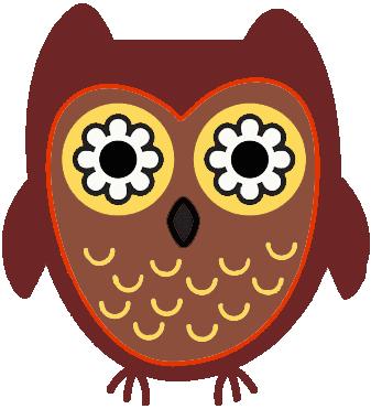 Chi Omega Owl Clipart.