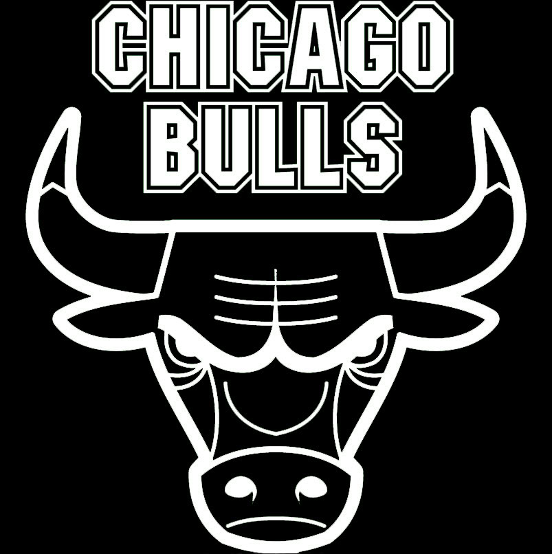 Chicago Bulls Logo Black And White Chicago Bulls Chi Town 10 20.