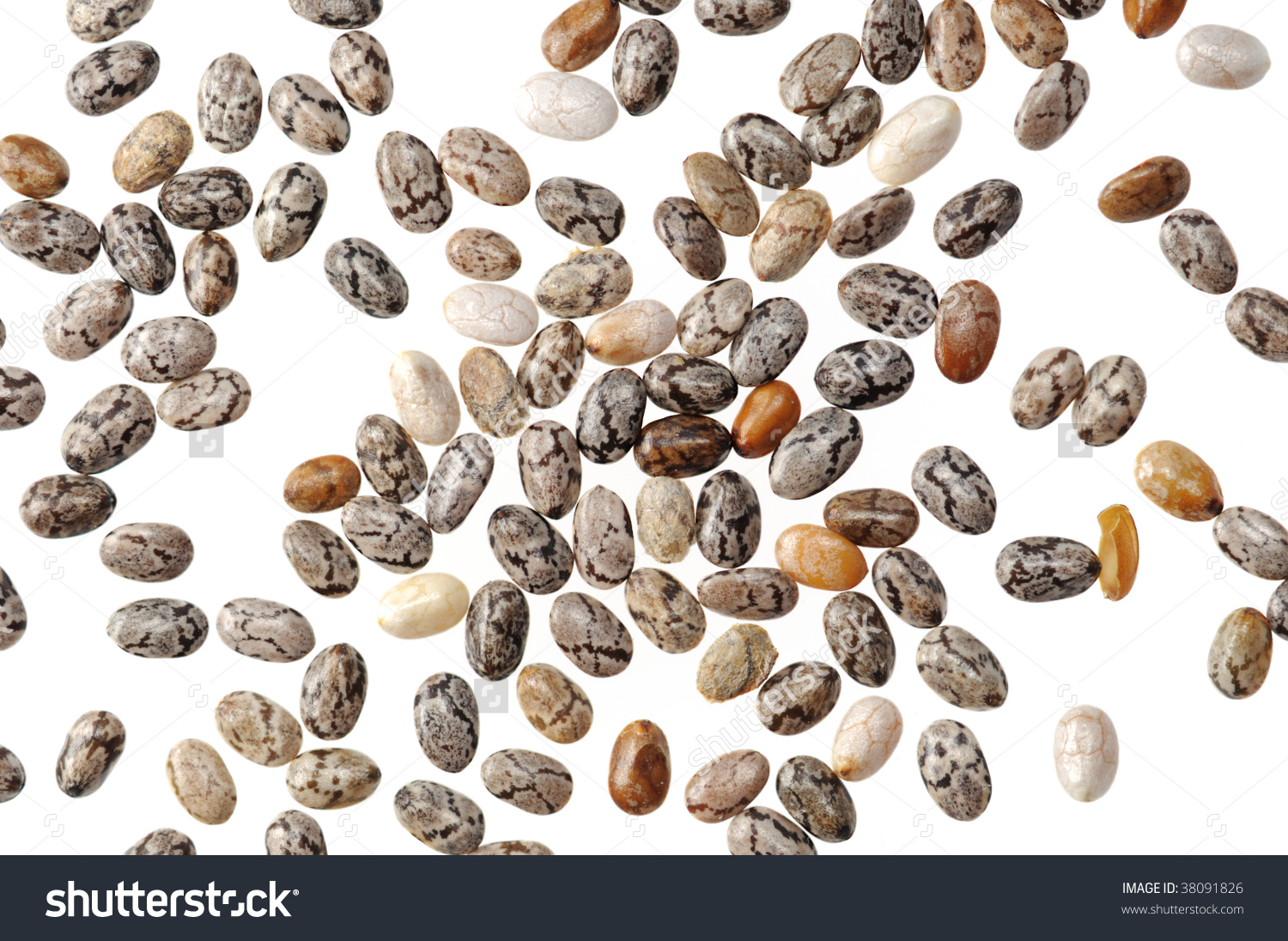 Chia Seeds Stock Photo 38091826.