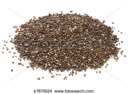 Stock Photo of chia seed pile k7670524.