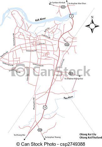 Vector of Chiang Rai City Map.