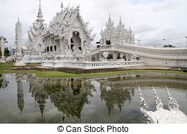 Stock Image of Wat Rong Khun near Chiang Rai.