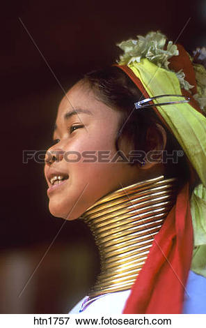 Picture of Thailand, Chiang Rai, Long Neck Hilltribe, Woman.