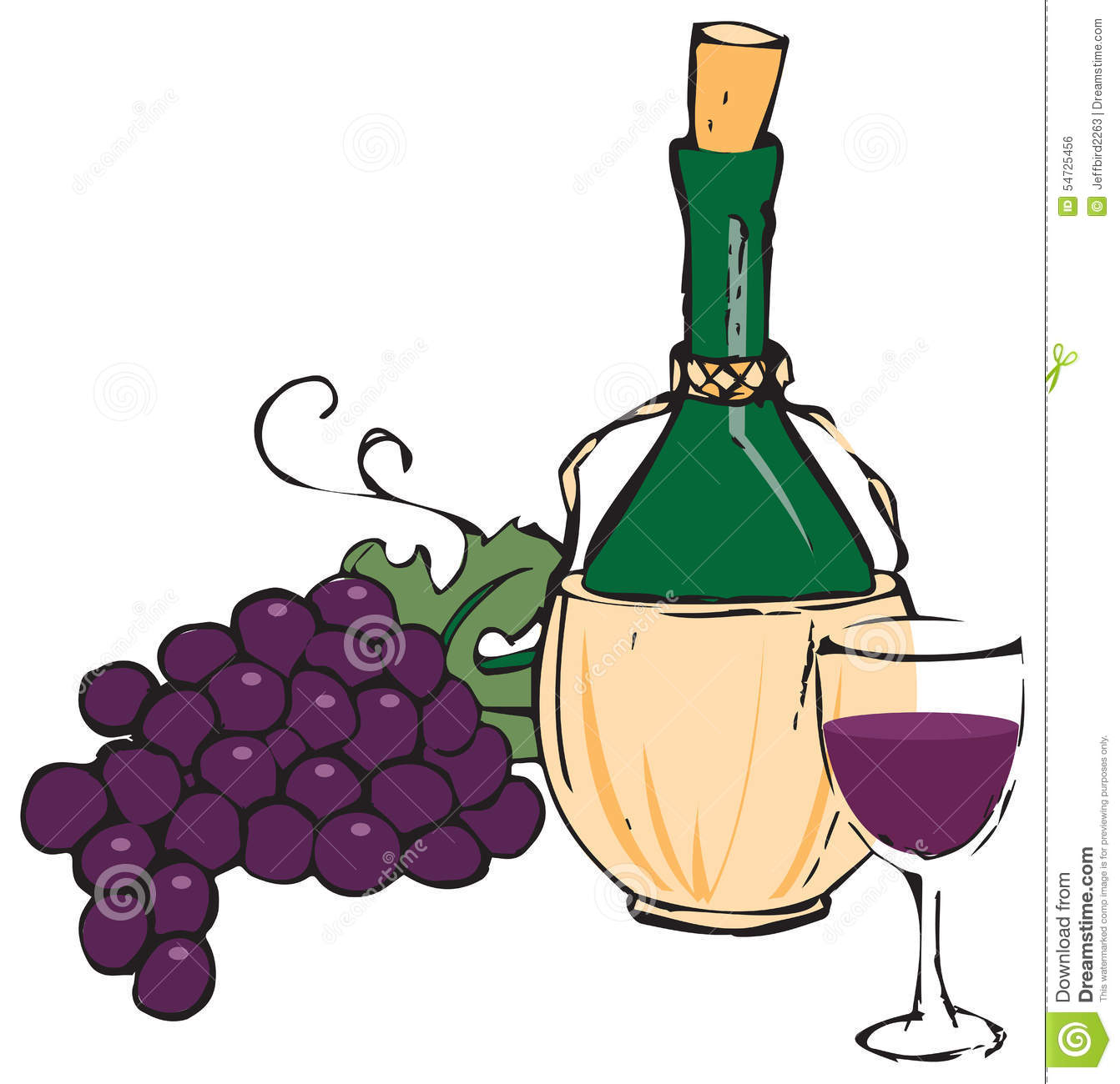Chianti Stock Illustrations.