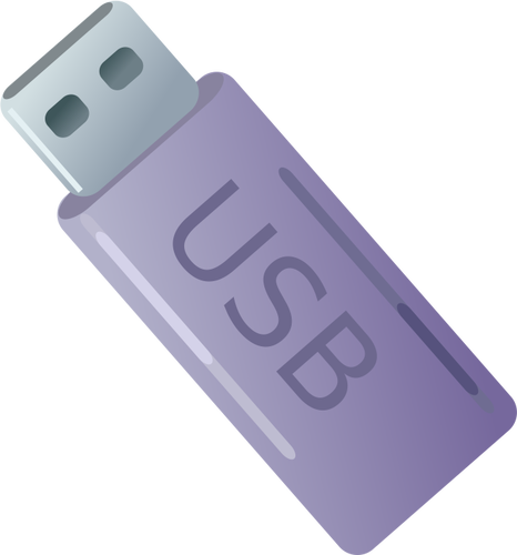 ClipArt vettoriali di chiavetta USB viola.