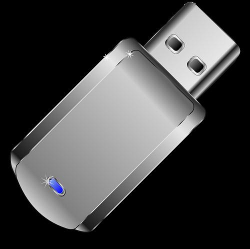 ClipArt vettoriali di lucido grigio chiavetta USB.
