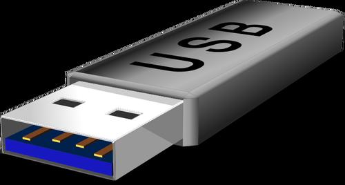 ClipArt vettoriali di grigio chiavetta flash USB.