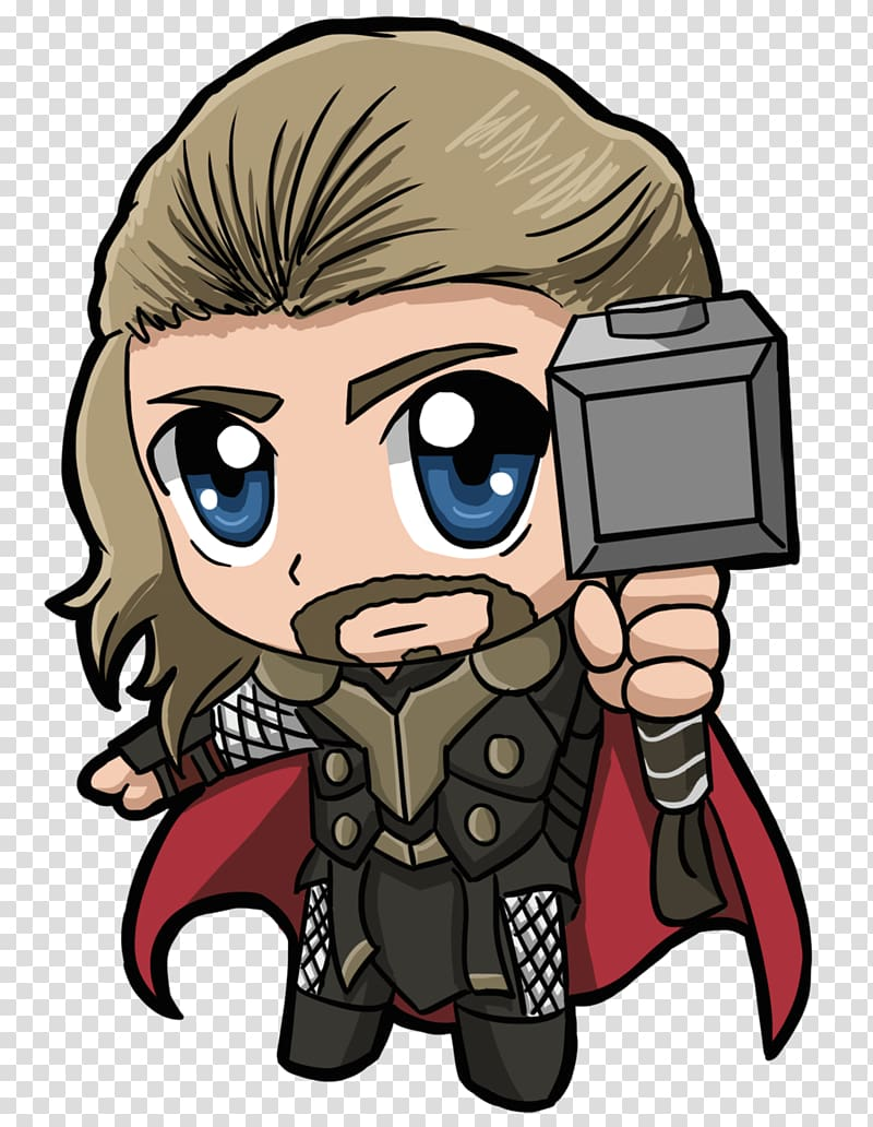 Marvel Thor character illustration, Thor Chibi , the.