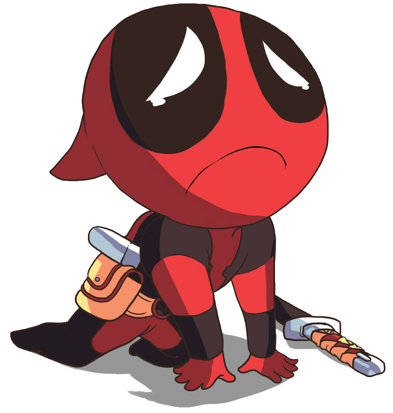 Chibi Deadpool Clipart.