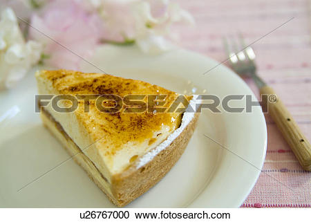 Stock Photography of Chiboust cake on plate u26767000.