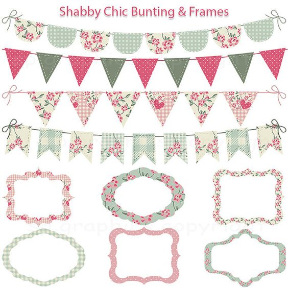 Shabby Chic Bunting and Tags / Frames.