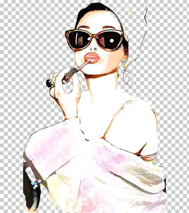 Fashion Illustration Drawing Watercolor Painting.
