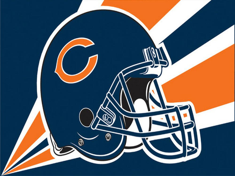 Chicago Bears Helmet Flag.