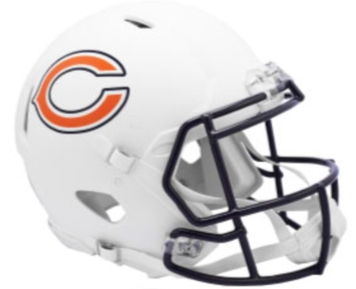 Chicago Bears Riddell Alternate Matte White Helmet PRE.
