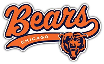 qualityprint Chicago Bears Logo NFL Sport Decor Bumper Vinyl Sticker 14\'\' X  8\'\'.