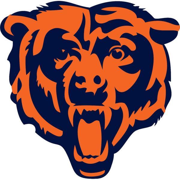 39 in. H x 40 in. W Chicago Bears Logo Wall Mural.
