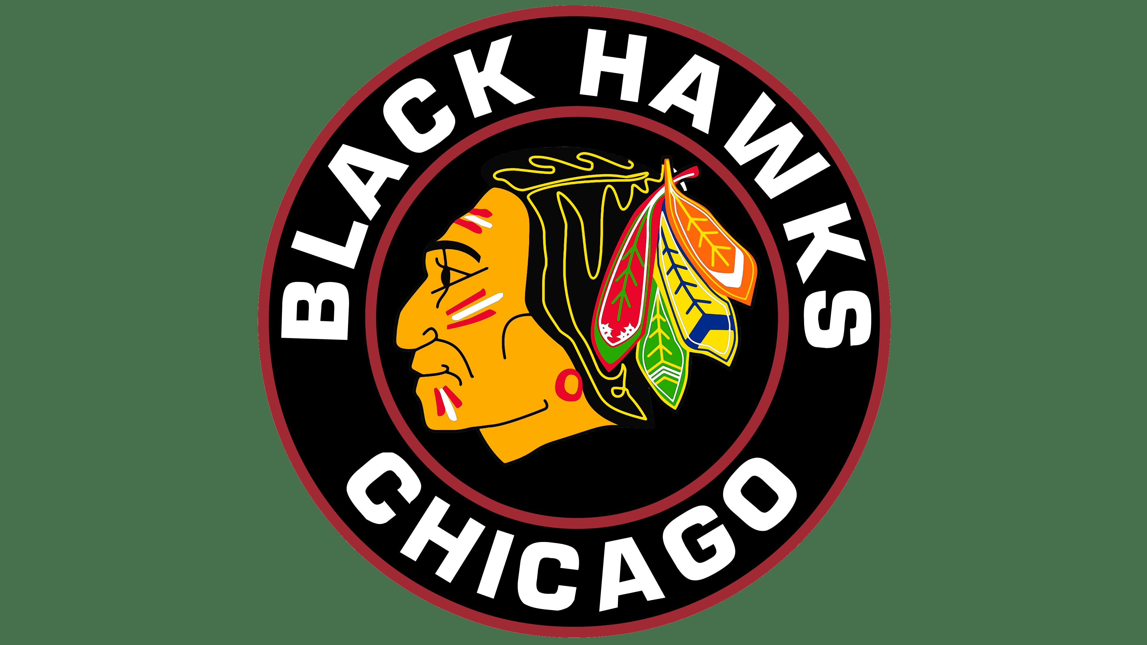 Chicago Blackhawks logos.