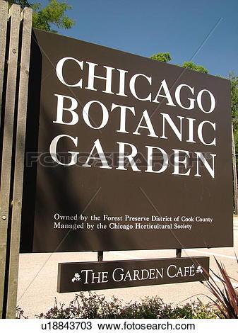 Stock Photo of Glencoe, IL, Illinois, Chicago Botanic Garden.