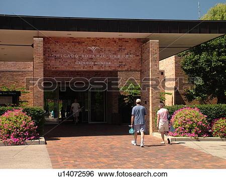 Stock Images of Glencoe, IL, Illinois, Chicago Botanic Garden.
